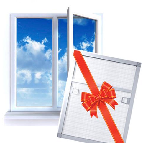 Пластиковые окна 2 окна третье в подарок 80