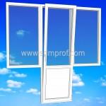 Балконный блок с двумя боками